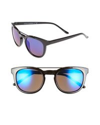 Steve Madden | Black 51mm Metal Brow Bar Sunglasses | Lyst