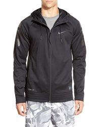 Nike | Black 'elite Basketball Stripe' Therma-fit & Dri-fit Full Zip Hoodie for Men | Lyst