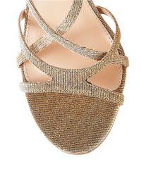 Betsey Johnson | Talia Metallic High-heel Sandals | Lyst