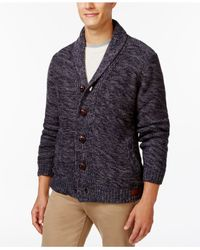 Weatherproof | Blue Vintage Shawl-collar Cardigan for Men | Lyst