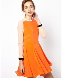 Antipodium | Orange Vector Dress in Silk | Lyst