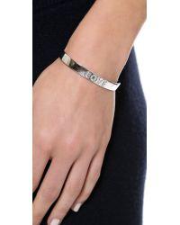 Tai | Metallic Love Cuff Bracelet - Silver | Lyst