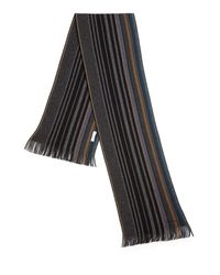 Paul Smith | Gray Striped Wool Scarf for Men | Lyst