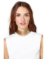 Nasty Gal | Metallic Charmed Collar Necklace | Lyst