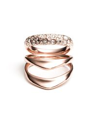 Alexis Bittar | Multicolor Liquid Rose Gold Crystal Encrusted Draping Ring | Lyst