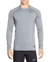 Nike - Gray 'pro Hyperwarm' Fitted Long Sleeve Dri-fit T-shirt for Men - Lyst
