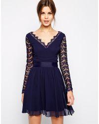 Elise Ryan | Blue Sleeveless V Neck Split Maxi Dress | Lyst