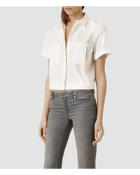 AllSaints | White Era Shirt | Lyst