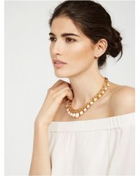 BaubleBar - Yellow Dinner Service Collar - Lyst