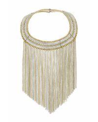 TOPSHOP | Metallic Mega Bead Chain Collar | Lyst
