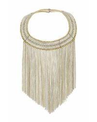 TOPSHOP - Metallic Mega Bead Chain Collar - Lyst