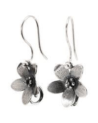 Trollbeads - Metallic Sterling Silver Anemone Drop Earrings - Lyst
