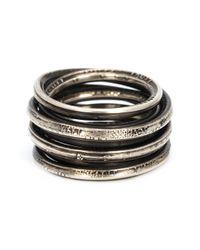 Werkstatt:münchen | Metallic Stacked Ring | Lyst