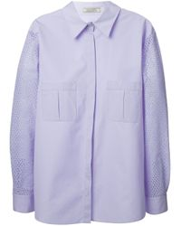 Nina Ricci | Blue Panelled Back Top | Lyst