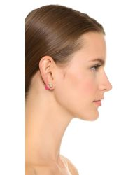 Marc By Marc Jacobs - Pink Double Ended Pyramid Earrings - Black - Lyst