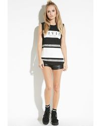 Forever 21 - Black Civil Baseball Muscle Tee - Lyst