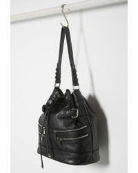 Forever 21 - Black Zippered Bucket Shoulder Bag - Lyst
