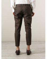 Milano Parigi - Gray Cropped Printed Trouser for Men - Lyst