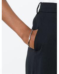 Nikos Koulis | Metallic Triangle Spiked Diamond Bracelet | Lyst