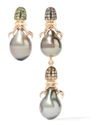 Daniela Villegas - Pink Siren 18-karat Rose Gold Multi-stone Earrings - Lyst