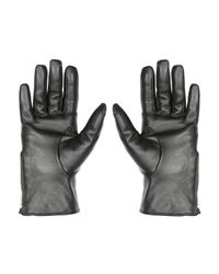 Jane Norman | Black Quilted Leather Gloves S/m | Lyst