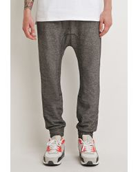 Forever 21 - Gray Kangaroo Pocket Drop-crotch Sweatpants for Men - Lyst