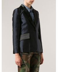 Harvey Faircloth - Black Contrast Collar Blazer - Lyst