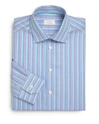 Eton of Sweden - Blue Contemporary-Fit Spectal Striped Dress Shirt for Men - Lyst