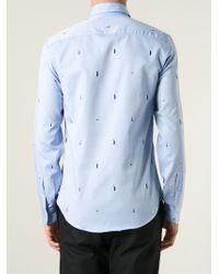 KENZO | Blue 'liberty' Shirt for Men | Lyst