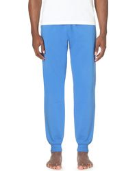 Moschino | Blue Logo-print Stretch-cotton Jogging Bottoms for Men | Lyst