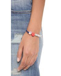 Venessa Arizaga | I Love Chicos Bracelet Blue Melange | Lyst