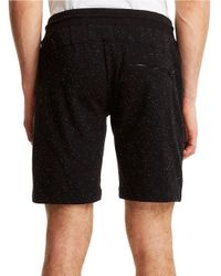 Kenneth Cole | Black Classic Fit Speckled Sweat Shorts for Men | Lyst