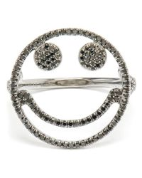 Rosa De La Cruz | Black Smiley Face Diamond Ring | Lyst