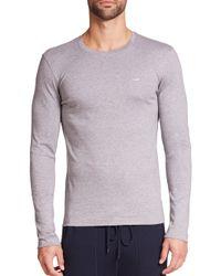 Michael Kors - Gray Long-sleeved Tee for Men - Lyst