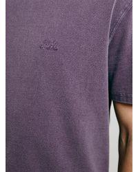 TOPMAN - Red Ltd Burgundy T-Shirt for Men - Lyst