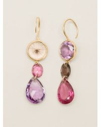 Marie-hélène De Taillac - Pink 22kt Gold 'lady Life' Drop Earrings - Lyst