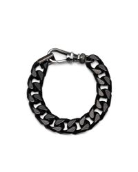 Maria Francesca Pepe - Black Bolt Lock Bracelet - Lyst