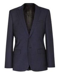Reiss - Blue Lester B Mottled Wool Blazer for Men - Lyst