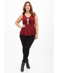 Forever 21 - Purple Plus Size Scalloped Lace Top - Lyst