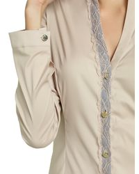 Patrizia Pepe | Natural Cotton Long Slevees Shirt | Lyst