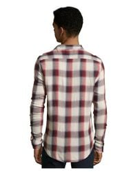 Jachs - Red Plaid Woven Flannel Button Front Shirt for Men - Lyst