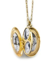 Monica Rich Kosann | Metallic 18k Gold Pavé Diamond 6-image Locket Necklace | Lyst
