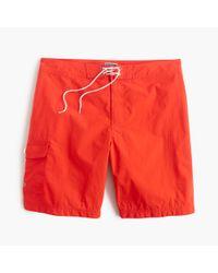 "J.Crew | Orange 9"" Board Short for Men | Lyst"