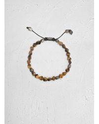 John Varvatos - Brown Tigers Eye Special Cut Bracelet for Men - Lyst