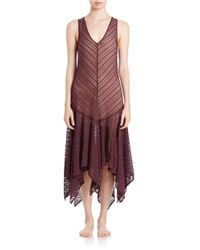 Free People | Purple Lace Maxi Slip Dress | Lyst