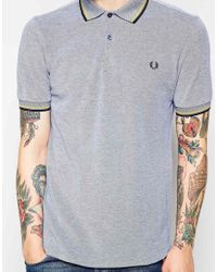 Fred Perry - Blue Polo With Twin Tip Slim Fit for Men - Lyst