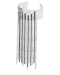 Maria Francesca Pepe   Metallic Encrusted Fringed Cuff Bracelet   Lyst