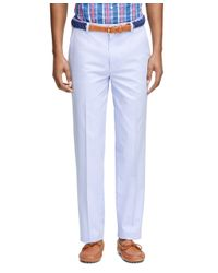 Brooks Brothers - Blue Clark Fit Oxford Chinos for Men - Lyst