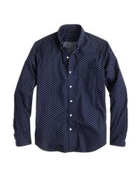 J.Crew | Blue Slim Cotton Shirt In Racing Red Paisley for Men | Lyst