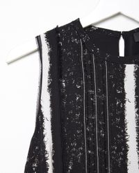 Proenza Schouler - Black Printed Silk Georgette Dress - Lyst